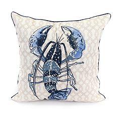 Jordan Manufacturing Blue Lobster Throw Pillow