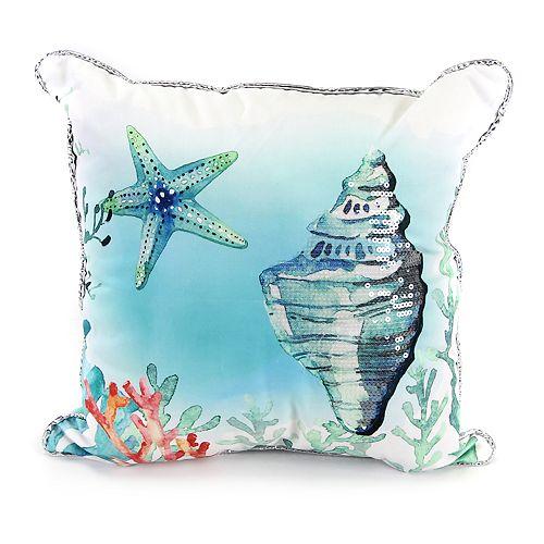 Jordan Manufacturing Under The Sea Print Throw Pillow