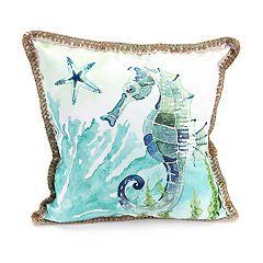 Jordan Manufacturing Sparkly Seahorse Throw Pillow