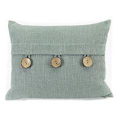 Jordan Manufacturing Slub Linen Stone Throw Pillow