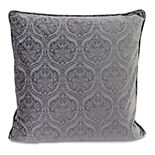 Jordan Manufacturing Embossed Velvet Throw Pillow