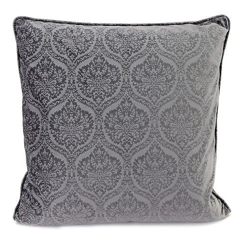 Jordan Manufacturing Embossed Velvet Throw Pillow