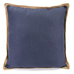 Jordan Manufacturing Faux Linen Throw Pillow