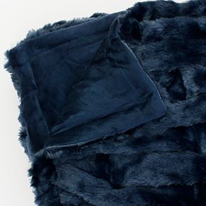 Josephine Basketweave Faux Fur Throw