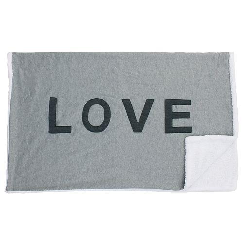 Love Applique Decorative Throw