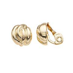 Napier Twist Button Clip-On Earrings