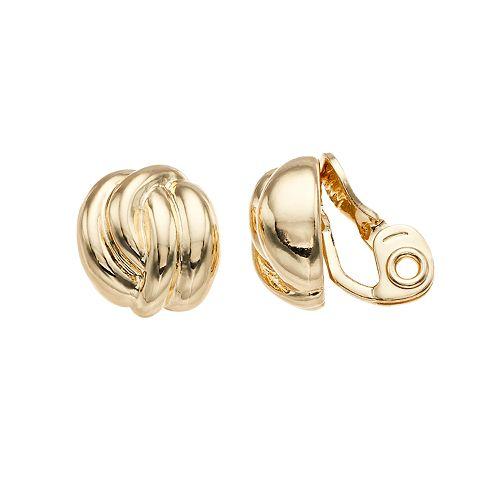 Napier Twist Button Clip-On Earrings