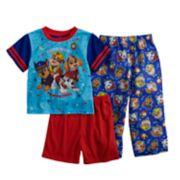 Toddler Boy Paw Patrol Chase, Marshall, Rubble & Skye Top, Shorts & Pants Pajama Set