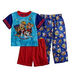 efc14a1980 Toddler Boy Paw Patrol Chase, Marshall, Rubble & Skye Top, Shorts & Pants