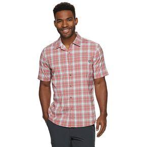 Men's Hi-Tec Plaid Performance Button-Down Shirt