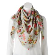 Women's Candie's® Floral Triangle Scarf