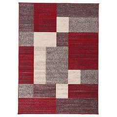 World Rug Gallery Avora Modern Boxes Rug