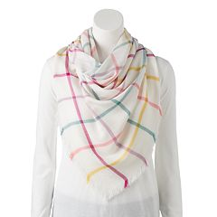 Women's Candie's® Rainbow Plaid Square Scarf