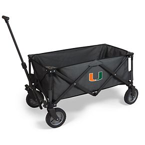 Picnic Time Miami Hurricanes Portable Utility Wagon