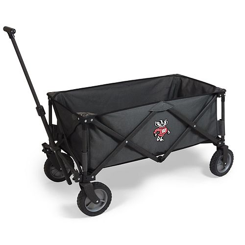 Picnic Time Wisconsin Badgers Portable Utility Wagon