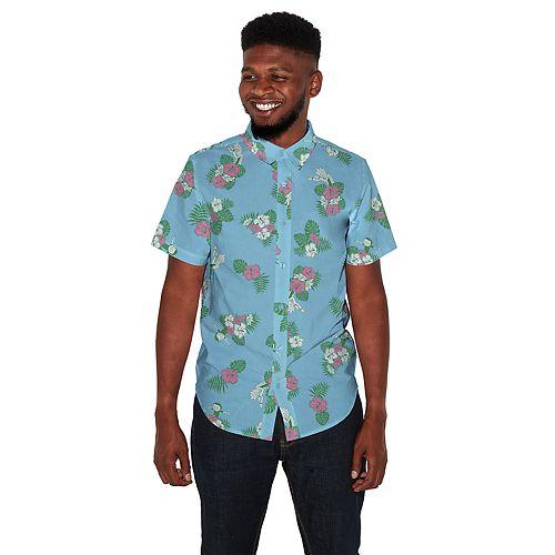 Men's Rick & Morty Hawaiian Button-Down Shirt