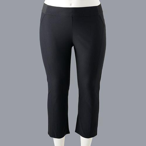 Plus Size Simply Vera Vera Wang Modern Twill Capri