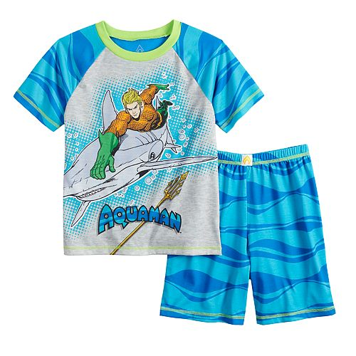 Boys 4-12 Aquaman 2-piece Pajama Set