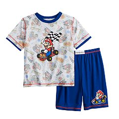 d39d37b3487 Boys 4-12 Mario Cart 2-piece Pajama Set