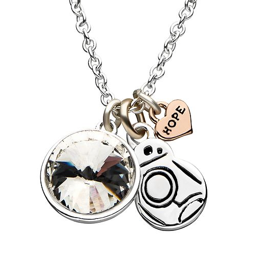 Star Wars BB-8 Cubic Zirconia Cluster Charm Necklace