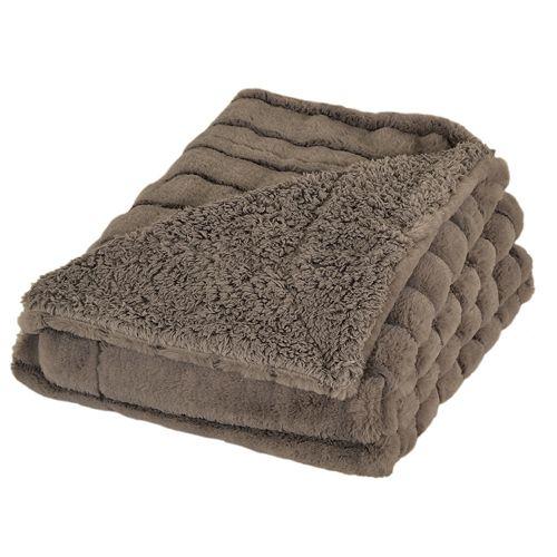 Samantha Stripe Faux Fur Throw