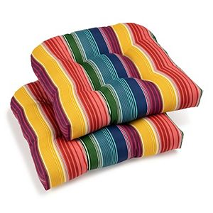 Sonoma Goods For Life® Indoor Outdoor 2-piece Single Wicker Chair Cushion Set