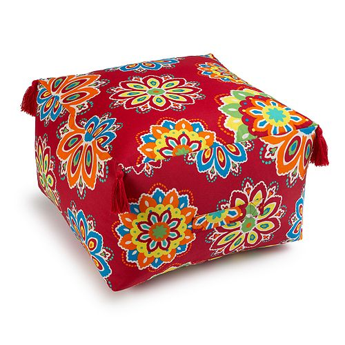 SONOMA Goods for Life™ Indoor Outdoor Paisley Pouf