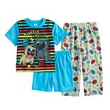 Toddler Boy Puppy Dog Pals Roly & Bingo Top, Shorts & Pants Pajama Set