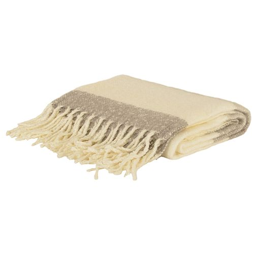Metilda Stripe Mohair Decorative Throw