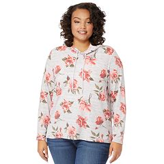 Juniors' Plus Size WallFlower Long Sleeve Printed Hoodie