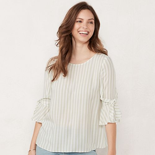 Women's LC Lauren Conrad Bow Bell Sleeve Top