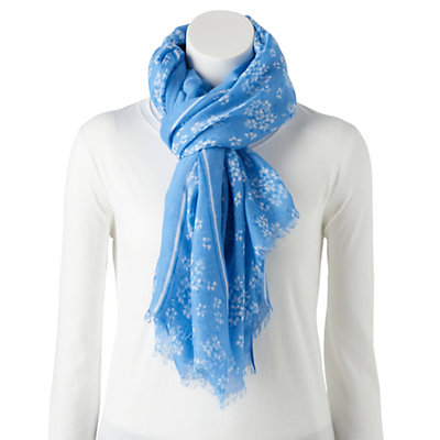 Chaps Delight Floral Oversized Scarf