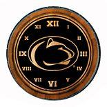 Penn State Nittany Lions Wine Barrelhead Clock