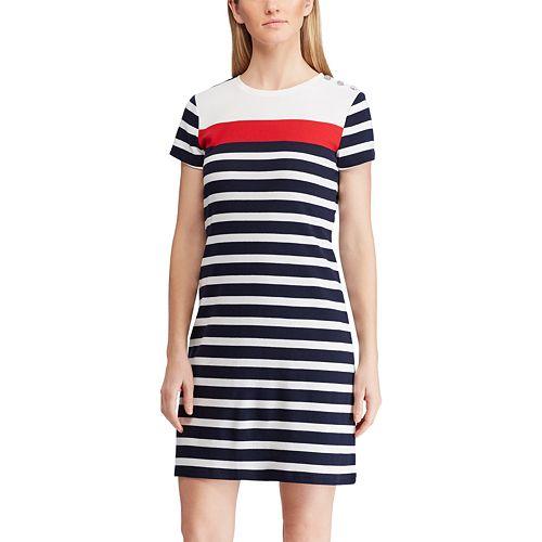 Women's Chaps Striped Sheath Dress