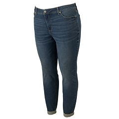 Plus Size LC Lauren Conrad Midrise Skinny Ankle Jeans