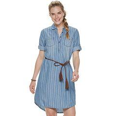 Women's SONOMA Goods for Life™ Elbow Sleeve Shirt Dress