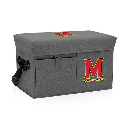 Picnic Time Maryland Terrapins Portable Ottoman Cooler