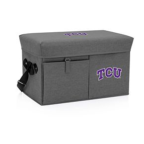 Picnic Time TCU Horned Frogs Portable Ottoman Cooler