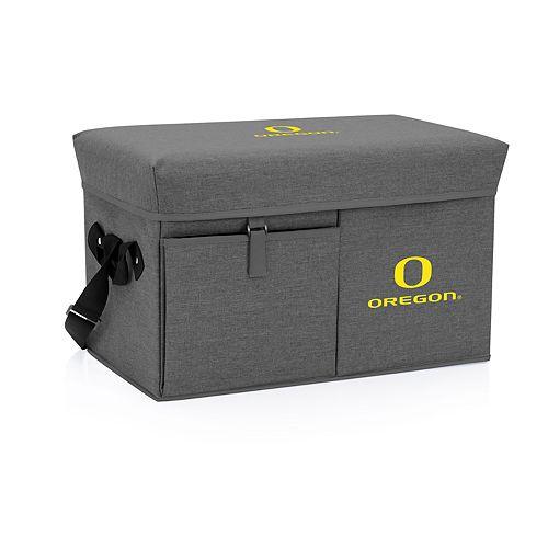 Picnic Time Oregon Ducks Portable Ottoman Cooler