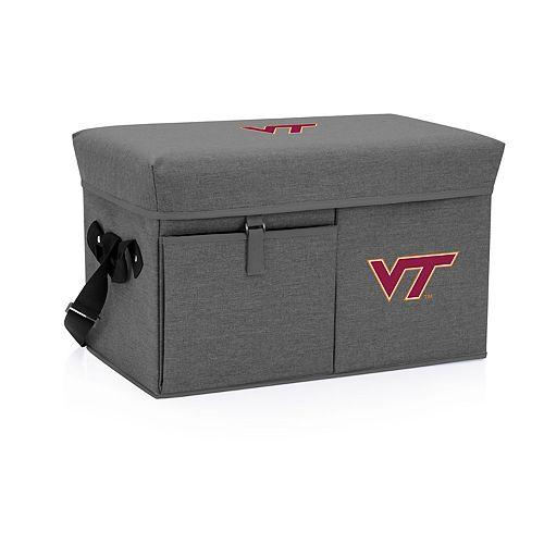 Picnic Time Virginia Tech Hokies Portable Ottoman Cooler