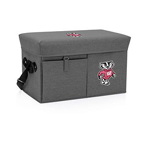 Picnic Time Wisconsin Badgers Portable Ottoman Cooler
