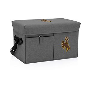 Picnic Time Wyoming Cowboys Portable Ottoman Cooler