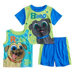 Toddler Boy Puppy Dog Pals Roly & Bingo Tops & Shorts Pajama Set