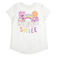 Toddler Girl Jumping Beans® Peppa Pig & Candy Cat Rainbow Graphic Tee