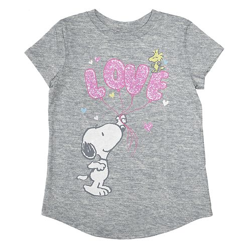 """Toddler Girl Jumping Beans® Snoopy """"Love"""" Graphic Tee"""