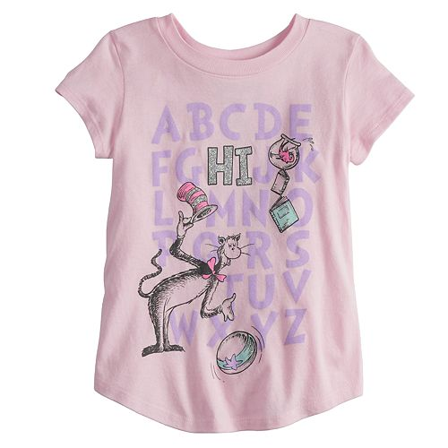 "Toddler Girl Jumping Beans® Dr. Seuss ""HI"" Alphabet Graphic Tee"