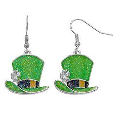 St. Patrick's Day Hat Earrings