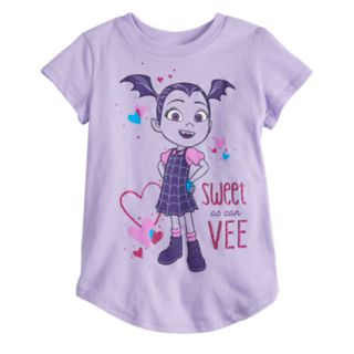"Disney's Vampirina Toddler Girl ""Sweet As Can Vee"" Graphic Tee by Jumping Beans®"