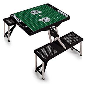 Oakland Raiders Portable Sports Field Picnic Table
