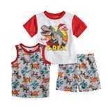 Toddler Boy Jurassic World Tops & Shorts Pajama Set